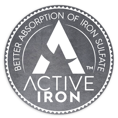 Solvotrin Therapeutics Product Active Iron Button