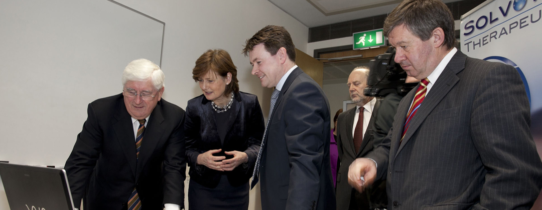 Minister for Enterprise, Trade and Innovation, Batt O'Keeffe visits Solvotrin Therapeutics office in Cork