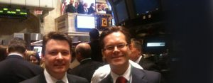 Pat O'Flynn and Mark Ledwidge at the Stock Exchange